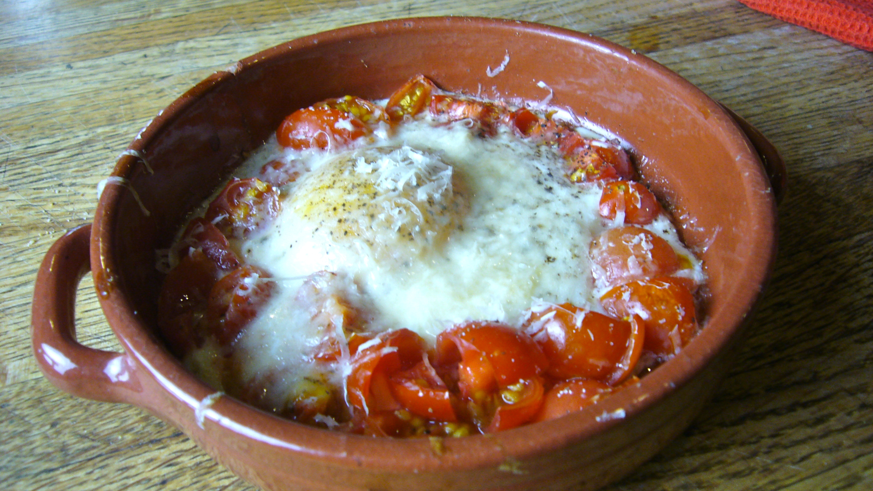 Baked Egg With Tomato And Dill Recipes — Dishmaps