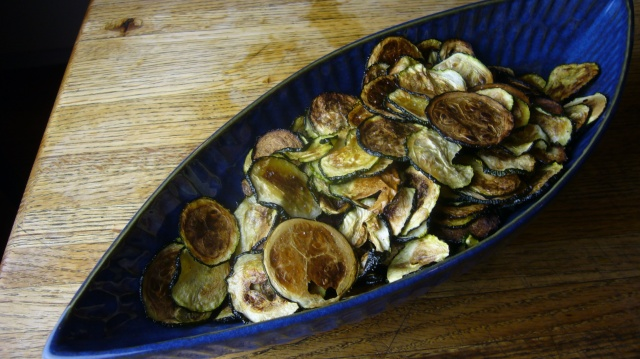 Zucchini Chips Served