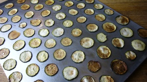 Zuccini Chips baking