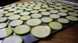 Zuccini Chips ready