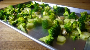 Broccoli in Roasting Pan