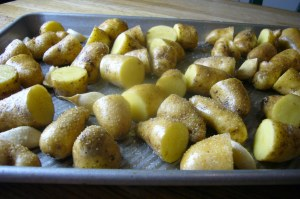 Potatoes in Roasting Pan 2